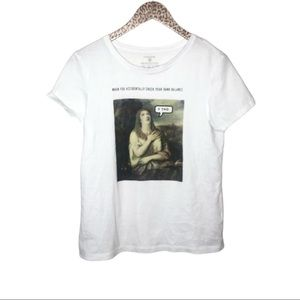 Funny Renaissance Painting Graphic Tee